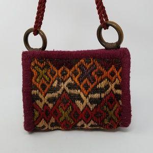 Vintage small crossbody killim bag